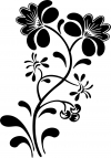 Swirl Leaf Flowers Decal