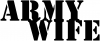 Army Wife Army Font Decal  Military car-window-decals-stickers
