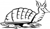 Armadillo Decal Animals car-window-decals-stickers