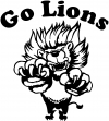 Go Lions Team Decal Sports car-window-decals-stickers