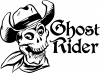 Ghost Rider Cowboy Skull Decal