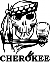 Cherokee Indian Skull Decal Skulls car-window-decals-stickers