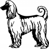 Afghan Hound Decal Animals car-window-decals-stickers