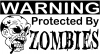 Protected By Zombies Decal Funny car-window-decals-stickers