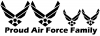 Proud Air Force Stick Family 2 Kids Stick Family Car Truck Window Wall Laptop Decal Sticker