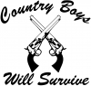 Country Boys Will Survive Country car-window-decals-stickers