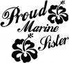 Proud Marine Sister Hibiscus Flowers