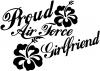 Proud Air Force Girlfriend Hibiscus Flowers
