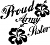 Proud Army Sister Hibiscus Flowers