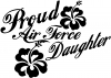 Proud Air Force Daughter Hibiscus Flowers Military car-window-decals-stickers
