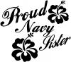 Proud Navy Sister Hibiscus Flowers