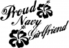 Proud Navy Girlfriend Hibiscus Flowers