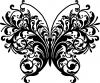 Swirl Butterfly Butterflies Car Truck Window Wall Laptop Decal Sticker