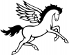 Pegasus Horse Enchantments Car Truck Window Wall Laptop Decal Sticker