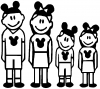 Mickey Mouse Disney 2 Kids Stick Family Stick Family Car Truck Window Wall Laptop Decal Sticker