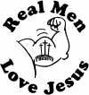 Real Men Love Jesus Christian car-window-decals-stickers
