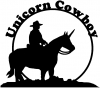 Unicorn Cowboy Funny car-window-decals-stickers