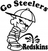 Go Steelers Pee On Redskins Pee Ons Car Truck Window Wall Laptop Decal Sticker