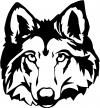 Wolf Head Animals car-window-decals-stickers