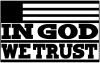 In God We Trust Christian car-window-decals-stickers