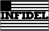 Infidel With US Flag Military car-window-decals-stickers