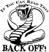If You Can Read This Back Off Cobra Moto Sports car-window-decals-stickers