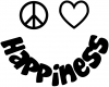 Peace Love Happiness Smiley