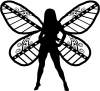 Dixie Pixie Fairy No Text Country Car Truck Window Wall Laptop Decal Sticker