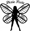 Dixie Pixie Fairy With Text Country Car Truck Window Wall Laptop Decal Sticker