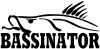 BASSINATOR left Hunting And Fishing car-window-decals-stickers