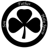 The Holy Trinity 3 Leaf Clover Christian car-window-decals-stickers