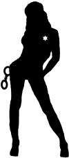 Sexy Police Woman Silhouettes Car Truck Window Wall Laptop Decal Sticker