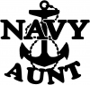 Navy Aunt Military car-window-decals-stickers