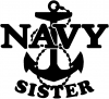 Navy Sister Military car-window-decals-stickers