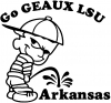 Go GEAUX LSU Pee Ons Car Truck Window Wall Laptop Decal Sticker