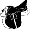 Horse Saddle Western car-window-decals-stickers