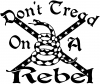 Gadsden Dont Tread On a Rebel Flag Country car-window-decals-stickers