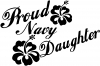 Proud Navy Daughter Hibiscus Flowers