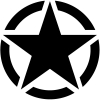 Military Jeep Star Segmented Military car-window-decals-stickers