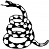 Gadsden Rattle Snake Only Animals car-window-decals-stickers