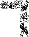 Corner Open Flower Vine 1 Flowers And Vines Car Truck Window Wall Laptop Decal Sticker