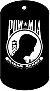 POW MIA Dog Tag