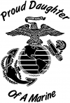 Proud Daughter Of A Marine w logo