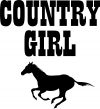 Country Girl With Running Horse