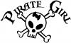 Pirate Girl Cute Skull