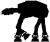 Star Wars Walker AT-AT Silhouettes Car Truck Window Wall Laptop Decal Sticker