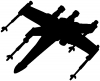 Star Wars X-Wing Fighter Silhouettes Car Truck Window Wall Laptop Decal Sticker