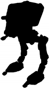 Star Wars Walker AT-ST Silhouettes Car Truck Window Wall Laptop Decal Sticker