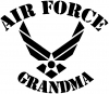 Air Force Grandma Military car-window-decals-stickers