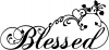 Blessed With Swirls Hearts Christian Car or Truck Window Decal